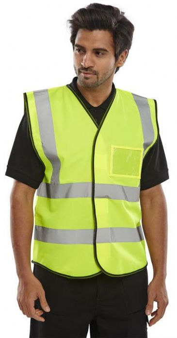 B Seen BD108 Hi Vis Vest with ID Pocket